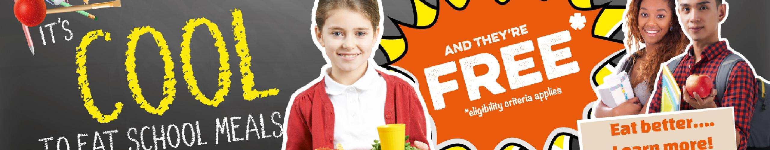 school meals background